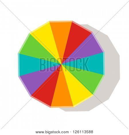 Rainbow beach umbrella icon