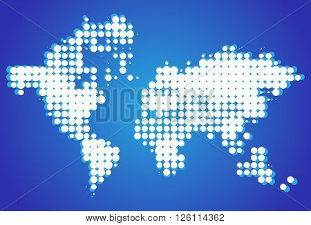 Blue dot world background
