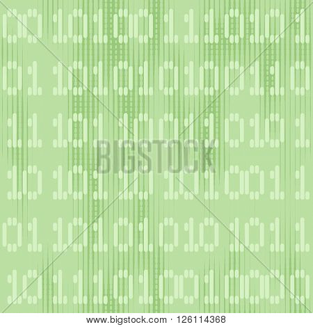 Digital green seamless background with one - zero numbers