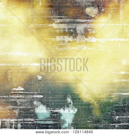 Vintage mottled frame, textured grunge background with different color patterns: yellow (beige); brown; gray; green; white; cyan