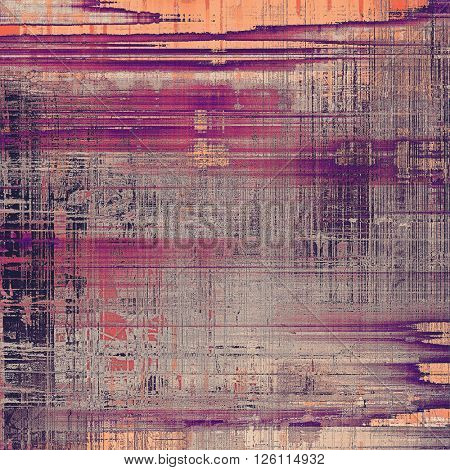 Vintage elegant background, creased grunge backdrop with aged texture and different color patterns: yellow (beige); gray; red (orange); purple (violet); pink