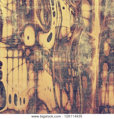 Grunge scratched background, abstract vintage style texture with different color patterns: yellow (beige); brown; gray; purple (violet); pink