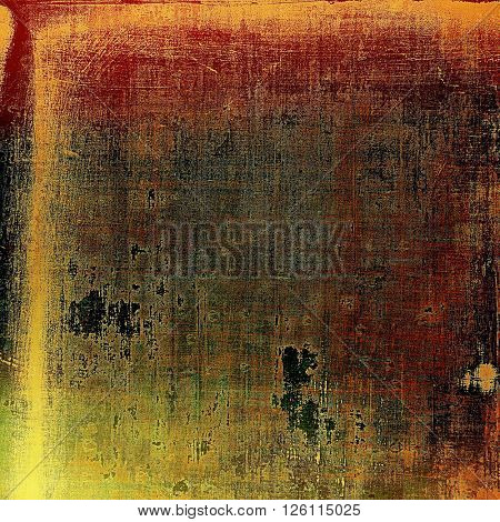 Old grunge background or aged shabby texture with different color patterns: yellow (beige); brown; gray; red (orange); green; black