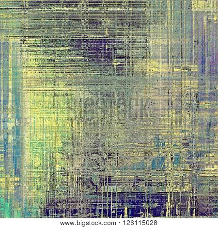 Tinted vintage texture, aged decorative grunge background with traditional antique elements and different color patterns: yellow (beige); gray; green; blue; purple (violet)
