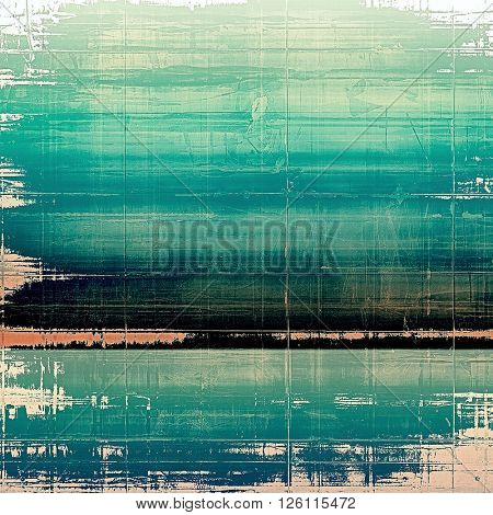 Vintage old-style texture, worn and rough grunge background with different color patterns: green; blue; white; black; cyan