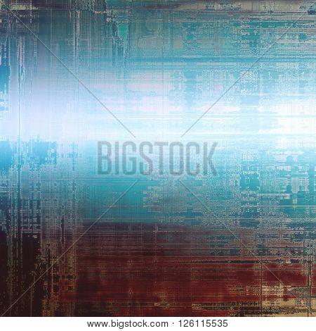 Old grunge background or aged shabby texture with different color patterns: brown; gray; blue; white; cyan