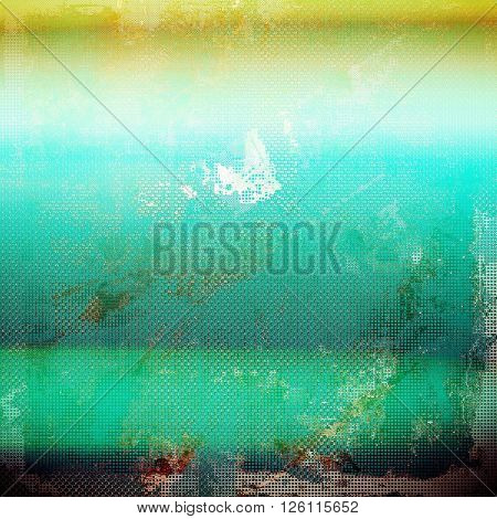 Retro style background with grungy vintage texture and different color patterns: yellow (beige); brown; gray; green; blue; white