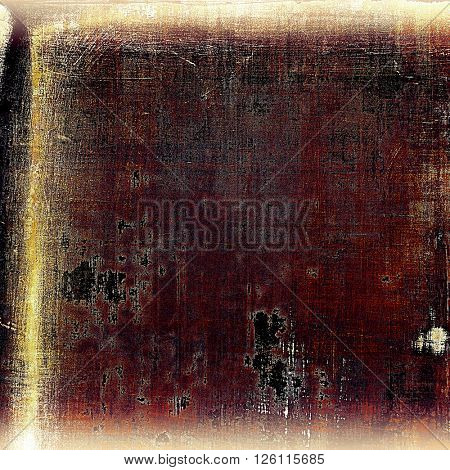 Retro style abstract background, aged graphic texture with different color patterns: yellow (beige); brown; gray; red (orange); purple (violet)