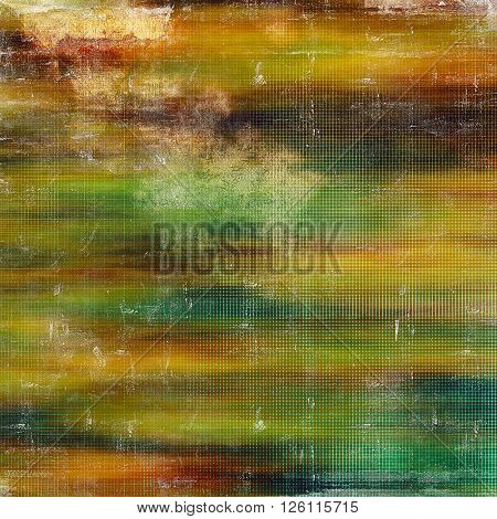 Vintage old-style texture, worn and rough grunge background with different color patterns: yellow (beige); brown; gray; red (orange); green; blue