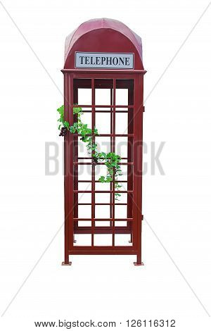 A telephone booth isolated on white background