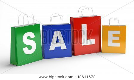 Sale shopping bags.