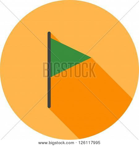 Flag, race, racing icon vector image. Can also be used for maps navigation. Suitable for mobile apps, web apps and print media.
