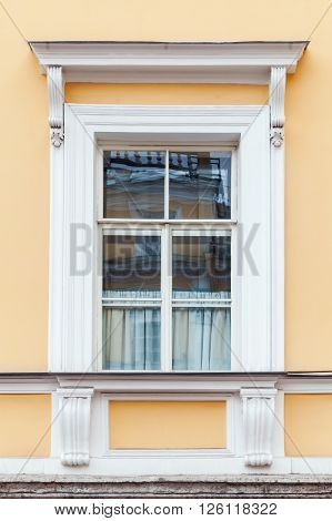 Classical Architecture Details, Yellow Wall And Window
