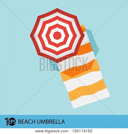 isolated beach umbrella, eps10 vector