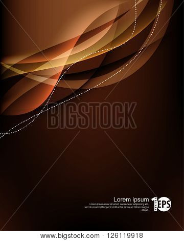 abstract waving transparent lines elegant material background, eps10 vector