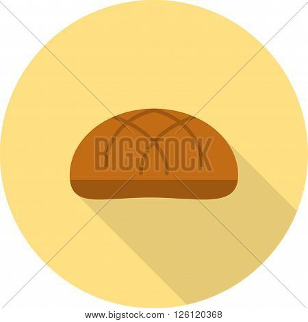 Bun, bread, hamburger icon vector image. Can also be used for bakery. Suitable for use on web apps, mobile apps and print media.