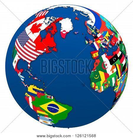 Political Northern Hemisphere Map