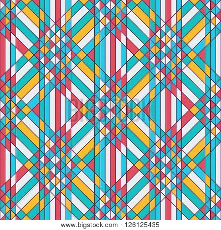 Bright triangles tessellation. Abstract geometric seamless background. Triangles pattern. Vector illustration.