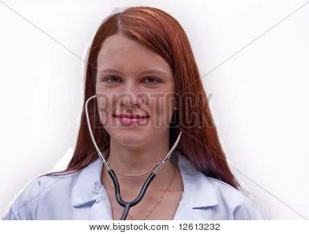 Medial Professional Woman With Stethoscope
