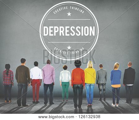 Depression Downturn Decline Recession Crisis Concept