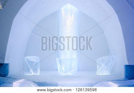 Ice Cathedral in Kiruna Sweden