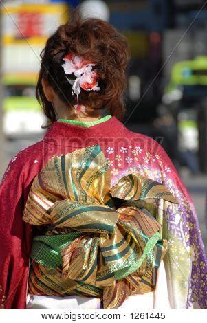 Girl In Japanese Kimono