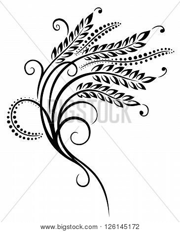 Vector design with cereal ear of corn. Decoration for bakers.