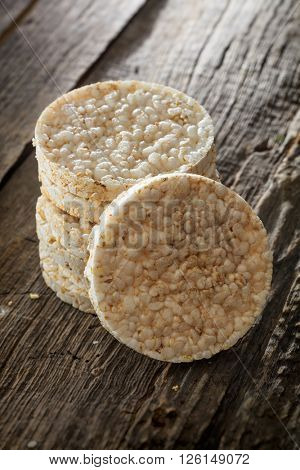 Grain Wafers set on old wooden surface