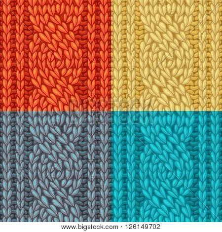 Colourful Six-stitch Cable Stitch Textures.