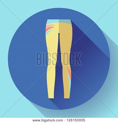 woman sportswear icon - sport and yoga leggings.