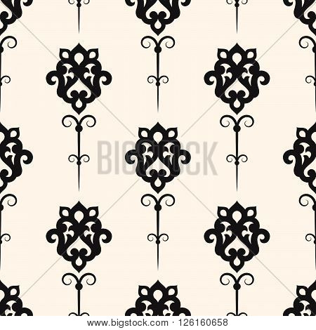 Vector damask seamless pattern background. Classical luxury old fashioned ornament, texture for wallpapers, textile, wrapping.