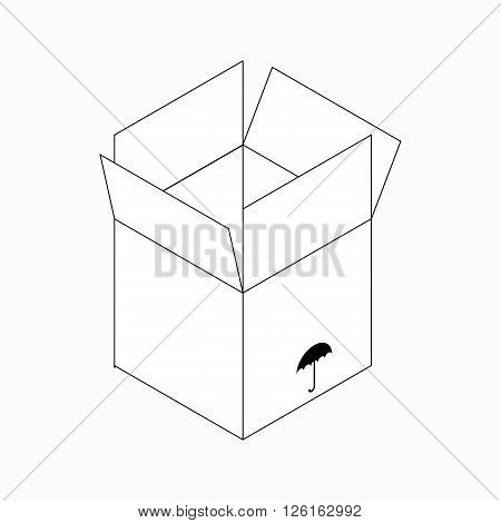 Keep dry packaging symbol icon in isometric 3d style isolated on white background