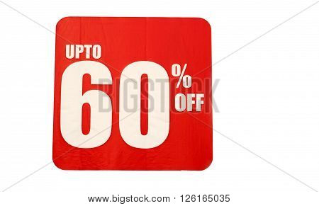 Discount sale sign in front of a clothes store