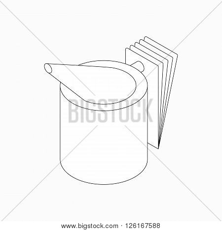 Beekeeper smoker icon in isometric 3d style isolated on white background