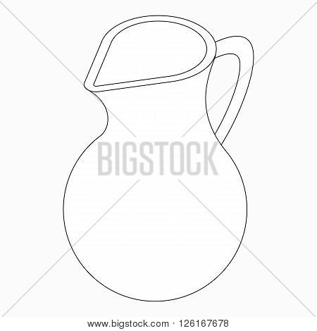 Jug icon in isometric 3d style isolated on white background