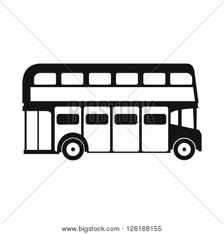London double decker bus icon in simple style on a white background
