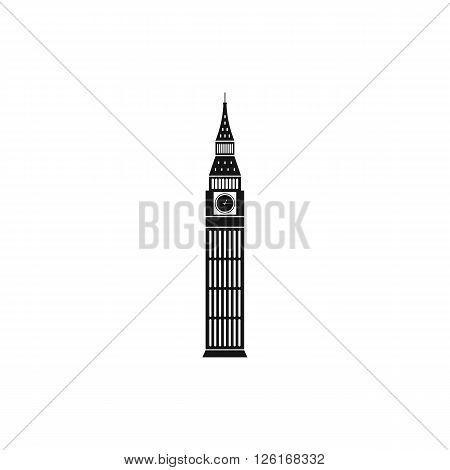 Big Ben in Westminster, London icon in simple style on a white background