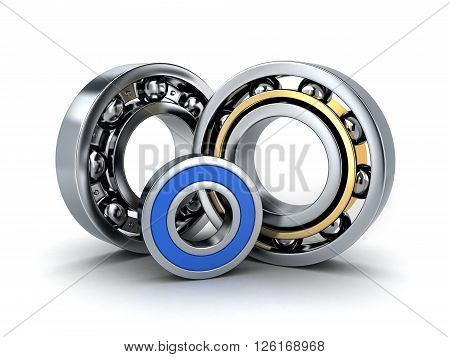 Three ball bearing (done in 3d cgi)