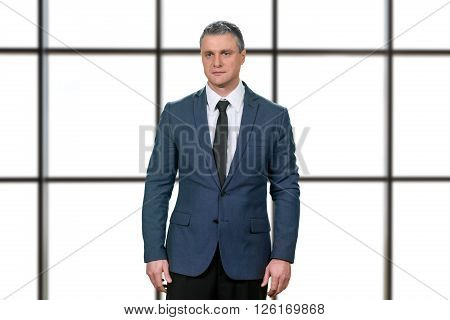 Worried mature businessman in suit. Upset manager on white background. Things just got real. Disappointed and stunned. ** Note: Visible grain at 100%, best at smaller sizes