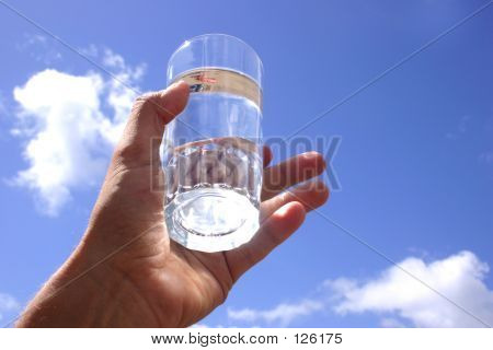 Hand Himmel Wasser
