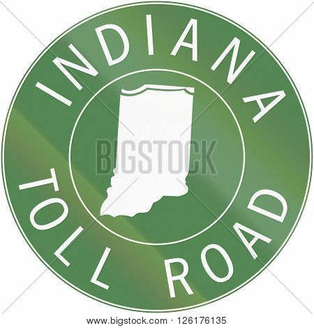 Indiana Toll Route Shield From 1968 Used In The United States