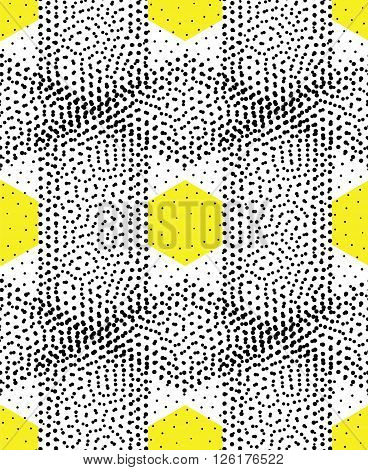 Original simple texture with regularly repeating geometrical shapes, dots, rhombuses. Vector seamless pattern. Modern stylish texture. Repeating geometric tiles with dotted rhombuses