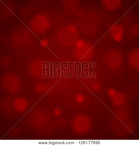 Abstract Blurred Background Of Dark Burgundy Shiny Christmas Tree Decorations. Vector Illustration