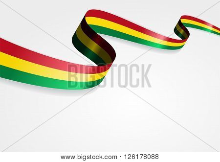 Bolivian flag wavy abstract background. Vector illustration.