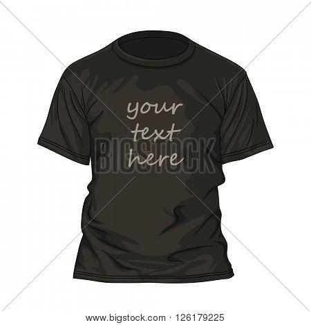 Black t-shirt design template. Vector illustration