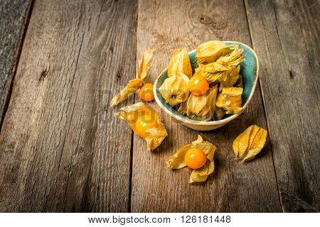 Cape Gooseberries In A Bow