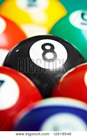 Photo Billiard Balls Close Up