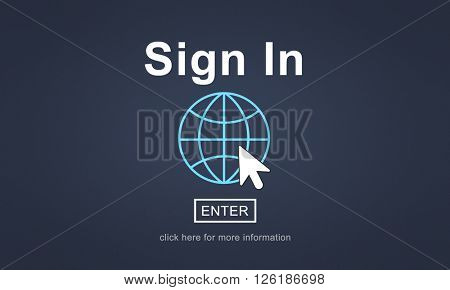 Sign In Registration Contact Subscribe Concept