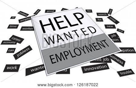 Help Wanted Job Work Service Concept