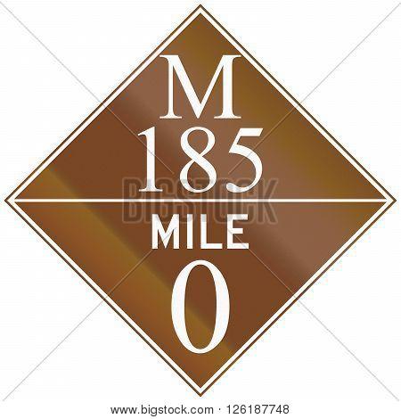 Michigan Route Shield Of The M-185 At Mile Zero